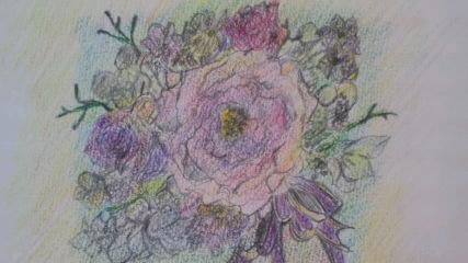胸には花を